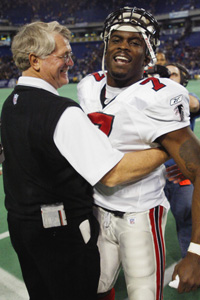 Dan Reeves and Michael Vick