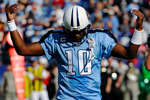 Tennessee Titans quarterback Vince Young
