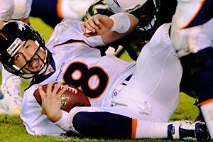 Denver Broncos quarterback Kyle Orgon