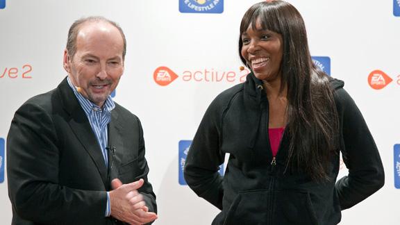 Venus Williams and Peter Moore