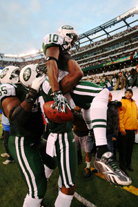 New York Jets celebrating