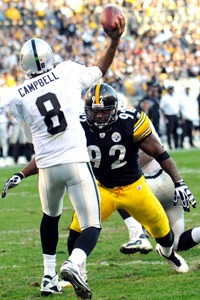 James Harrison and Jason Campbell