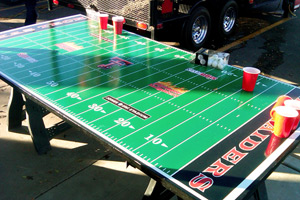 Texas Tech beer pong table
