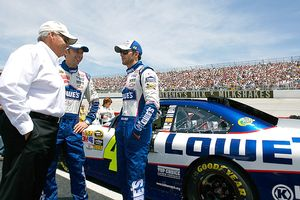 Rick Hendrick, Chad Knaus, and Jimmie Johnson