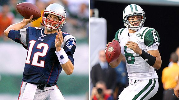 Tom Brady and Mark Sanchez