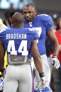 Brandon Jacobs and Ahmad Bradshaw