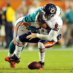 Jay Cutler and Cameron Wake