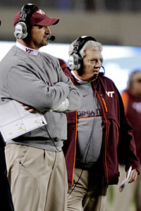 Virginia Tech's Bud Foster and Frank Beamer