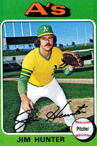 Catfish Hunter Topps Card
