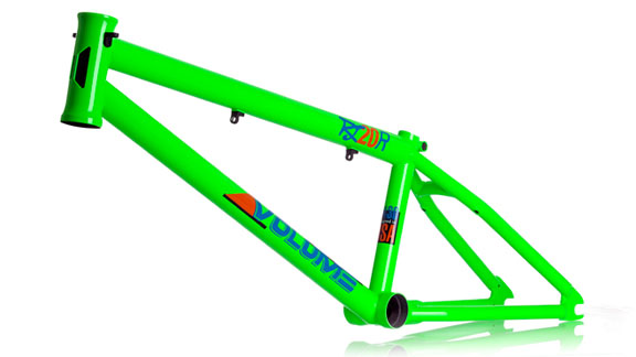 The new Ryan 'Biz' Jordan signature RJ-20R frame from Volume Bikes, with a creative nod to Auburn.
