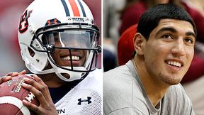 Cameron Newton and Enes Kanter