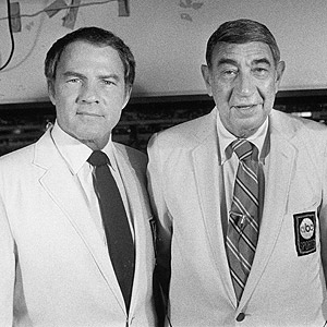 Frank Gifford and Howard Cosell