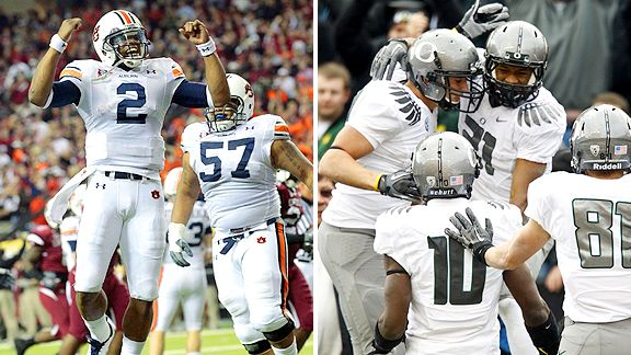 Auburn Tigers/Oregon Ducks