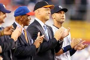 Ernie Banks, Cal Ripken and Derek Jeter