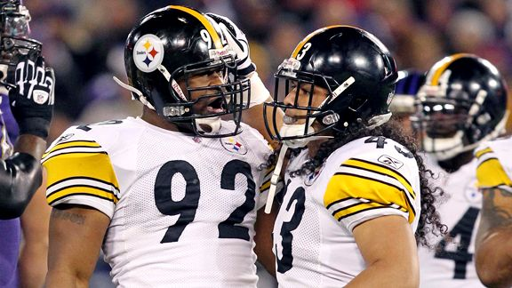 James Harrison, Troy Polamalu