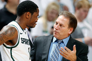Tom Izzo and Kalin Lucas