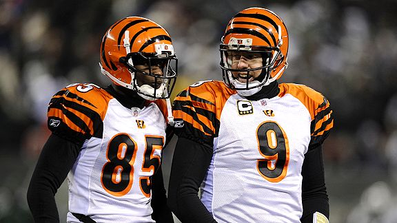 Chad Ochocinco and Carson Palmer