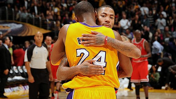 Derrick Rose and Kobe Bryant
