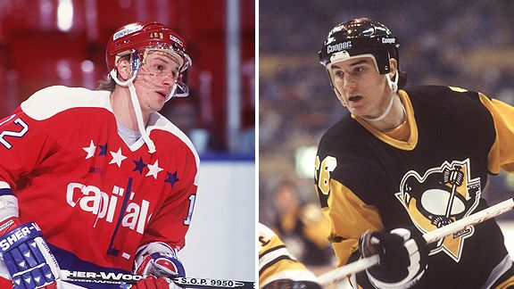Peter Bondra and Mario Lemieux