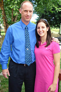 Rebecca Gray and her father, Todd