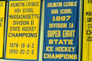 Arlington Catholic hockey banners