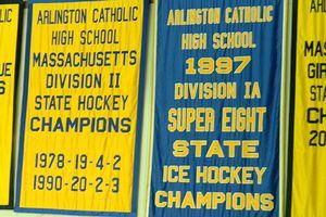 Arlington Catholic hockey banners