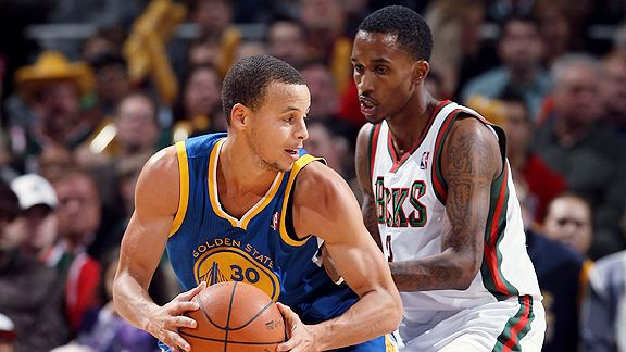 Stephen Curry and Brandon Jennings
