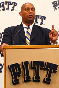 University of Pittsburgh head football coach Mike Haywood
