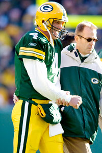 how would brett favre s various injuries throughout his career  ap photo david stluka brett favre grimaces as he walks off the field after getting injured against the patriots in 2006