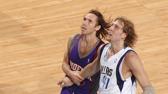 Steve Nash and Dirk Nowitzki