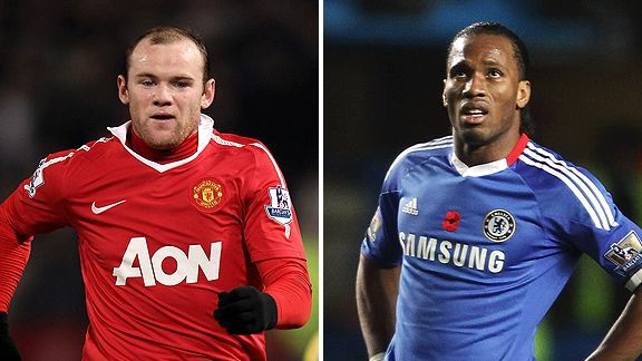 Wayne Rooney and Didier Drogba