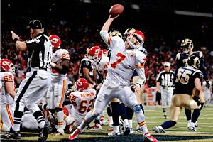 Kansas City quarterback Matt Cassel