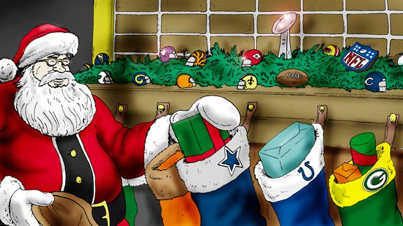 Image result for santa and his sack nfl