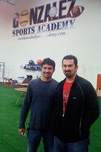 Adrian Gonzalez and Brother