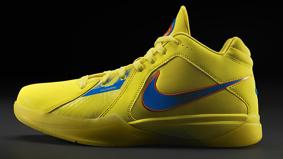 Kevin Durant will wear his KD III No Yield for Yellow models in the
