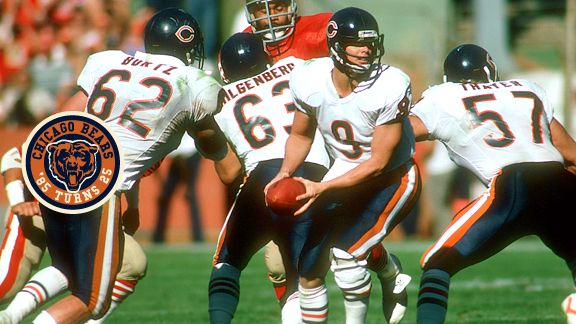Jay Hilgenberg (63), Tom Thayer (57), and Mark Bortz (62) sometimes had tougher competition in practice than in games.