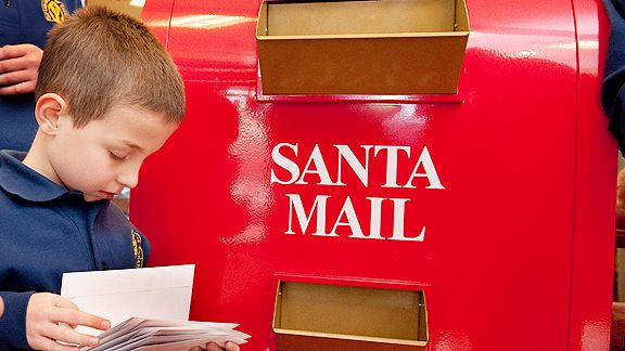 Santa wish mail box