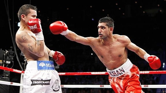Marcos Maidana and Amir Khan