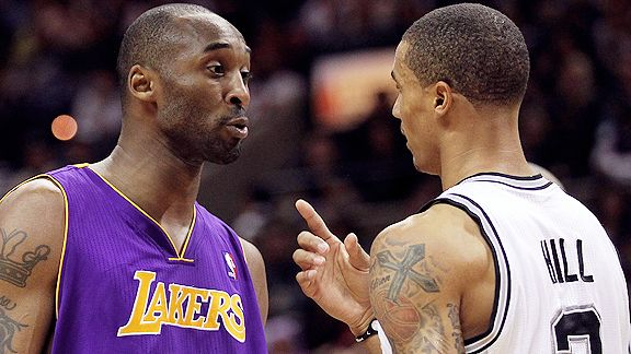 Kobe Bryant and George Hill