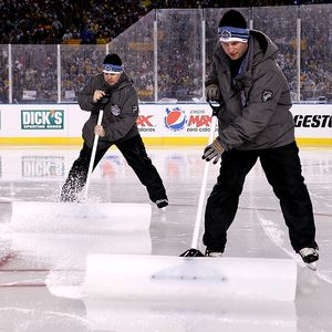 Winter Classic ice