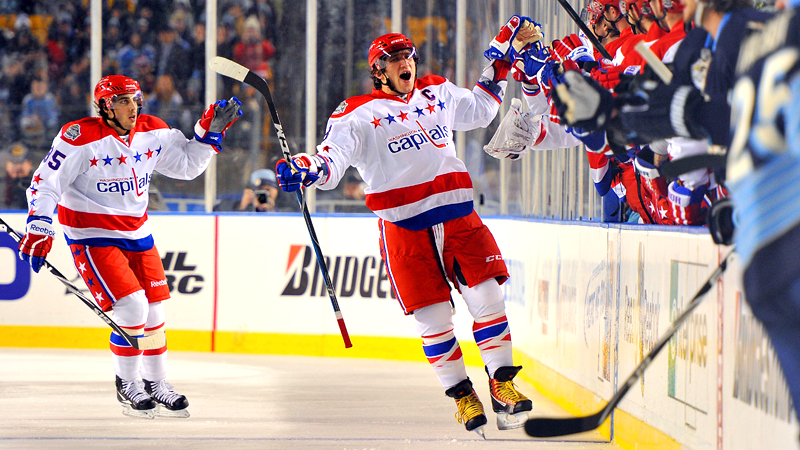 Alex Ovechkin and Mike Knuble