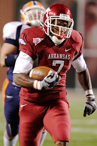 Arkansas running back Knile Davis