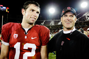 Jim Harbaugh & Andrew Luck