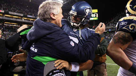 Pete Carroll and Charlie Whitehurst