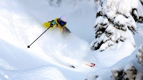 Cody Townsend at Whitefish in December.