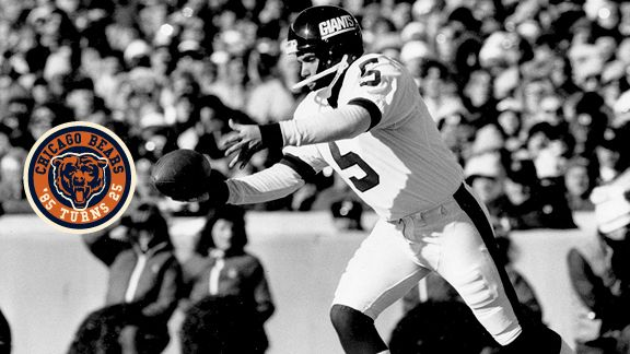A punt by the Giants' Sean Landeta traveled minus-7 yards and turned into the Bears' first touchdown.