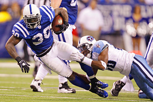 Indianapolis Colts running back Dominic Rhodes