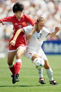 As a 5-foot-4 midfielder, Kristine Lilly scored 130 international goals, the second most in history behind Mia Hamm's 158.