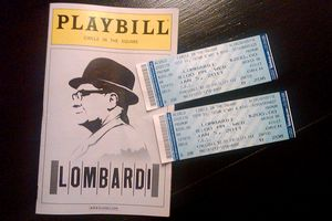 Lombardi play ticket and program