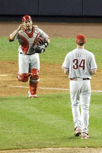 Cliff Lee and Carlos Ruiz